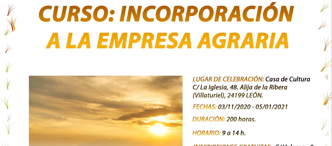 Curso de Incorporación a la Empresa Agraria